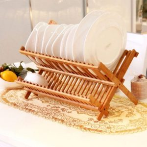 Wooden Plate Rack For Ideal Storage