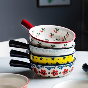 Ceramic Bakeware: With Handle