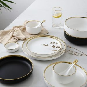 Gold Dinner Plates For Eating Luxuriously