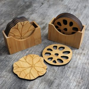 Tea Coasters: Bamboo Material Ideal Tableware