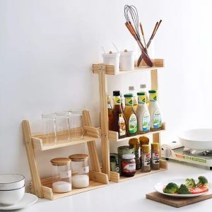 Wooden Spice Rack: The Elegant New Multifunctional Countertop