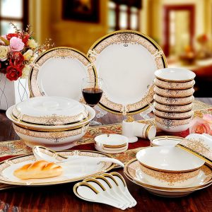 Classy And Royal Bone China Dinner Set
