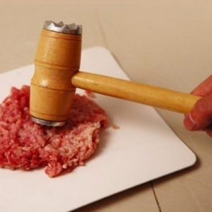 Tenderize Meat With This Sturdy Wooden Mallet