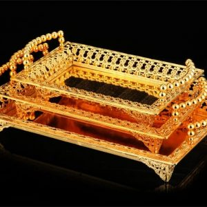 Gold And Silver Serving Trays: Ideal Decorative Accessory