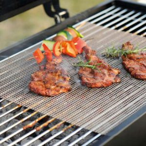 Grill Mat: Non-Stick Mesh For BBQ Grilling