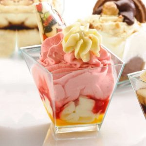 Disposable Plastic Tableware Dessert Twisted Cup