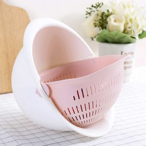 A Double Drain Basket For Space And Convenience