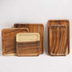 Rectangle Wooden Pan Tray Kitchenware