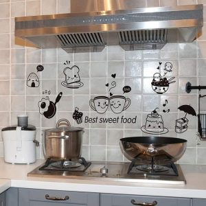 Food DIY Wall Art: Amazing removable wall Stickers