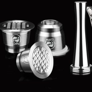 Coffee Filter Dripper Set Refillable Capsule