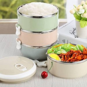Steel Breakfast Container: For A Thermo Portable Lunch Box