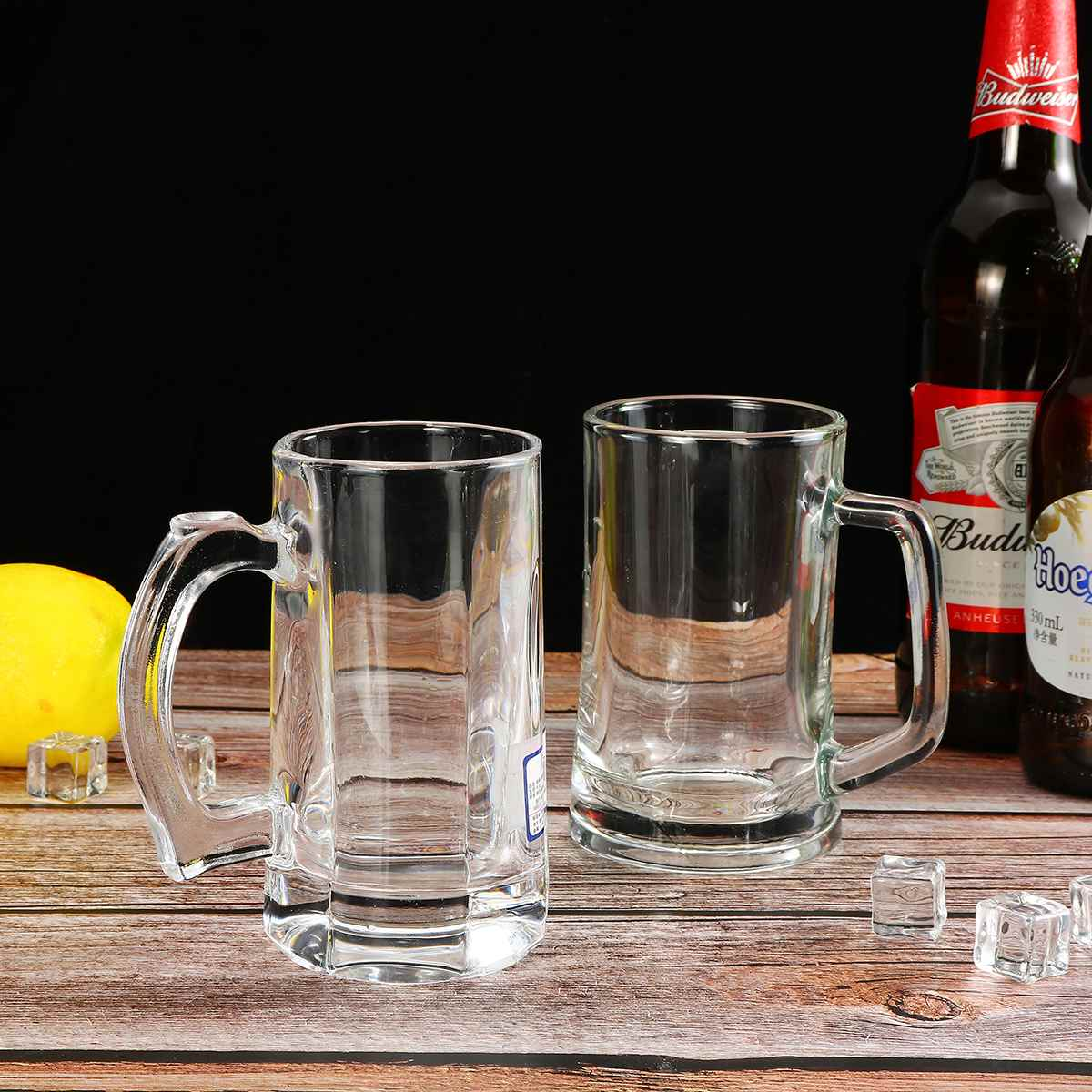 Cocktail Glass Cocktail Mugs Cup Bar Drinking Bar Household Glass Beer Mugs With Handle Thickened Transparent Crystal Tea Cup Drinking Cup Bar Party Mugs