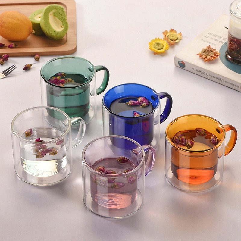 Glass Vodka Champagne Beer Coffee Cups Cocktail Holder Multi Color Champagne Beer Glass Wine Drink Tea Cup Coffee Cups Cocktail Holder Mug Wine Glass