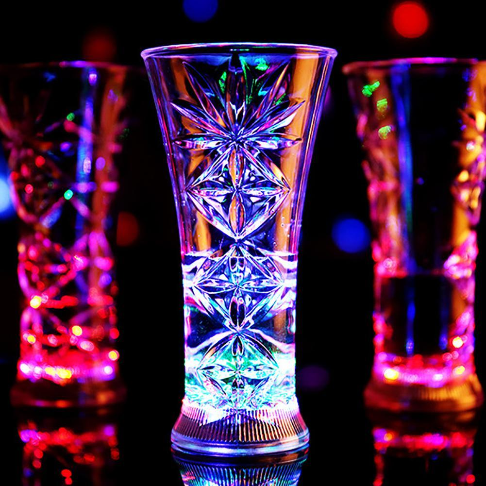 Whiskey Cup Party Mugs Beer Cup Water Mug Hot Sale Creative Party Mugs Snowflake LED Flashing Color Changing Water Activated Light Up Beer Whiskey Cup