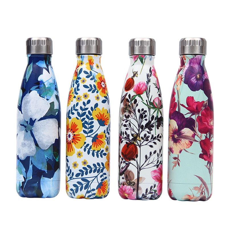 Water Bottles Coke Bottle Sports Bottle Vacuum Flask Double Wall Insulated Vacuum Flask Stainless Steel Color Coke Bottle Thermos For Sports Water Bottles