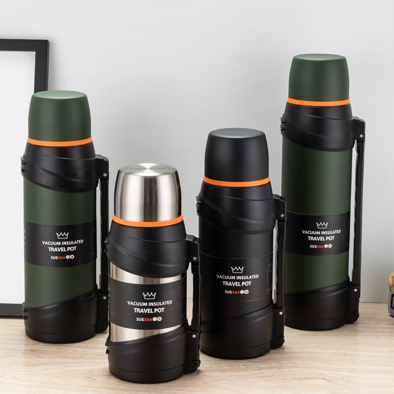 Thermos Bottles Water Bottle Vacuum Bottles Knight Cup Large Capacity Stainless Steel Water Bottle Vacuum Bottles Thermos Sports Outdoor Thermos Bottles