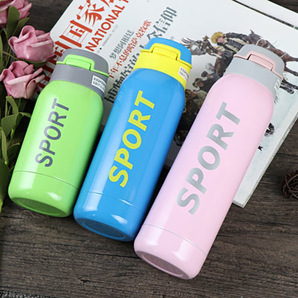 Sports Cup Straw Cup Thermos Cup Kids Cup Men and Women Couple Thermos Vacuum Stainless Steel Portable Insulation Cup Kids Drinking Straw Sports Cup