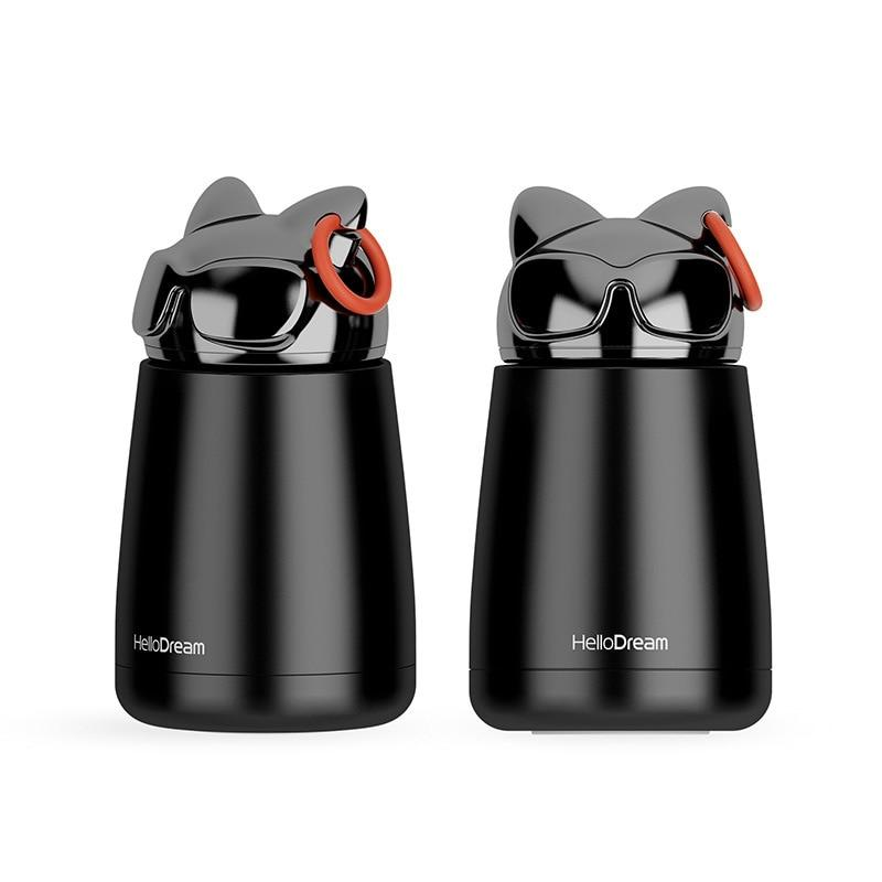 Student Cup Travel Cup Vacuum Flasks Cat Mug Cool Sunglasses Cat Mug Thermos Stainless Steel Insulated Student Cup Travel Thermos Mug Vacuum Flasks