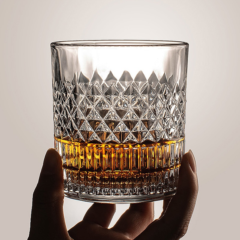 Whiskey Glass Wine Glass Glass Transparent Spirits Wine Glass Transparent Whiskey Glass Home Creative Liquor Spirits Wine Glass Beer Glasses Barware Tools