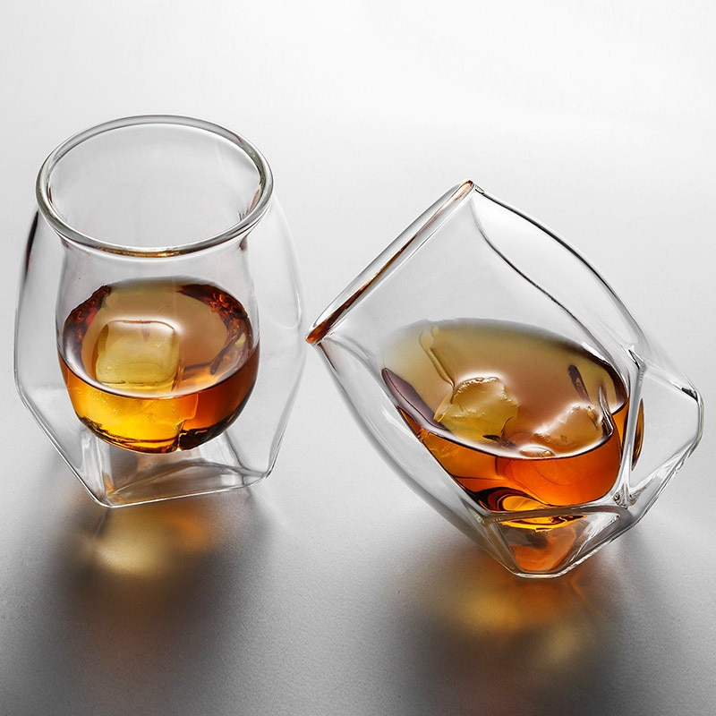 Tasting Cups Whiskey Glass Glass Wine Scotch Whiskey High Technology Double Wall Whiskey Glass Professional Scotch Whiskey Nosing Glasses Cognac Cups