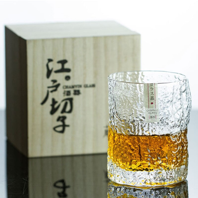 Wood Box Whiskey Cup Whiskey Glass Hand Made Wine Limited Japanese Style Whiskey Glass Master Hand Made Wine Unleaded Glass Japanese Whiskey Cup
