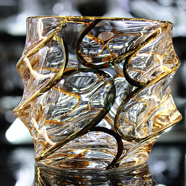 Spirits Glass Whiskey Glass Crystal Glass Brandy Glass European Style Large Scale Crystal Glass Drawing Gold Wine Whiskey Glass Beer Glass Tea Glass Barware
