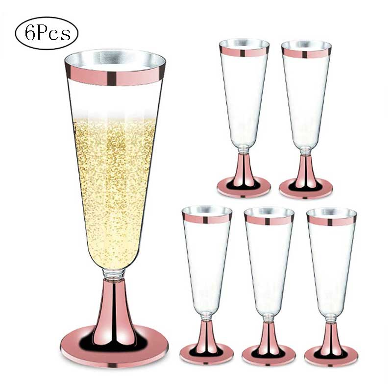 Drinking Cup Supplies Bar Wine Glass Red Wine Disposable Red Wine Glass Plastic Champagne Flutes Glasses Cocktail Mugs Wedding Party Supplies Bar Cups