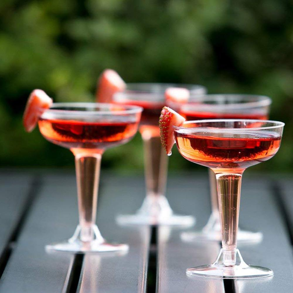 Cocktail Cups Living Room Buffets Home Wedding Champagne Parties Wedding Buffets Living Room Disposable Hard Plastic Martini Champagne Cocktail Cups