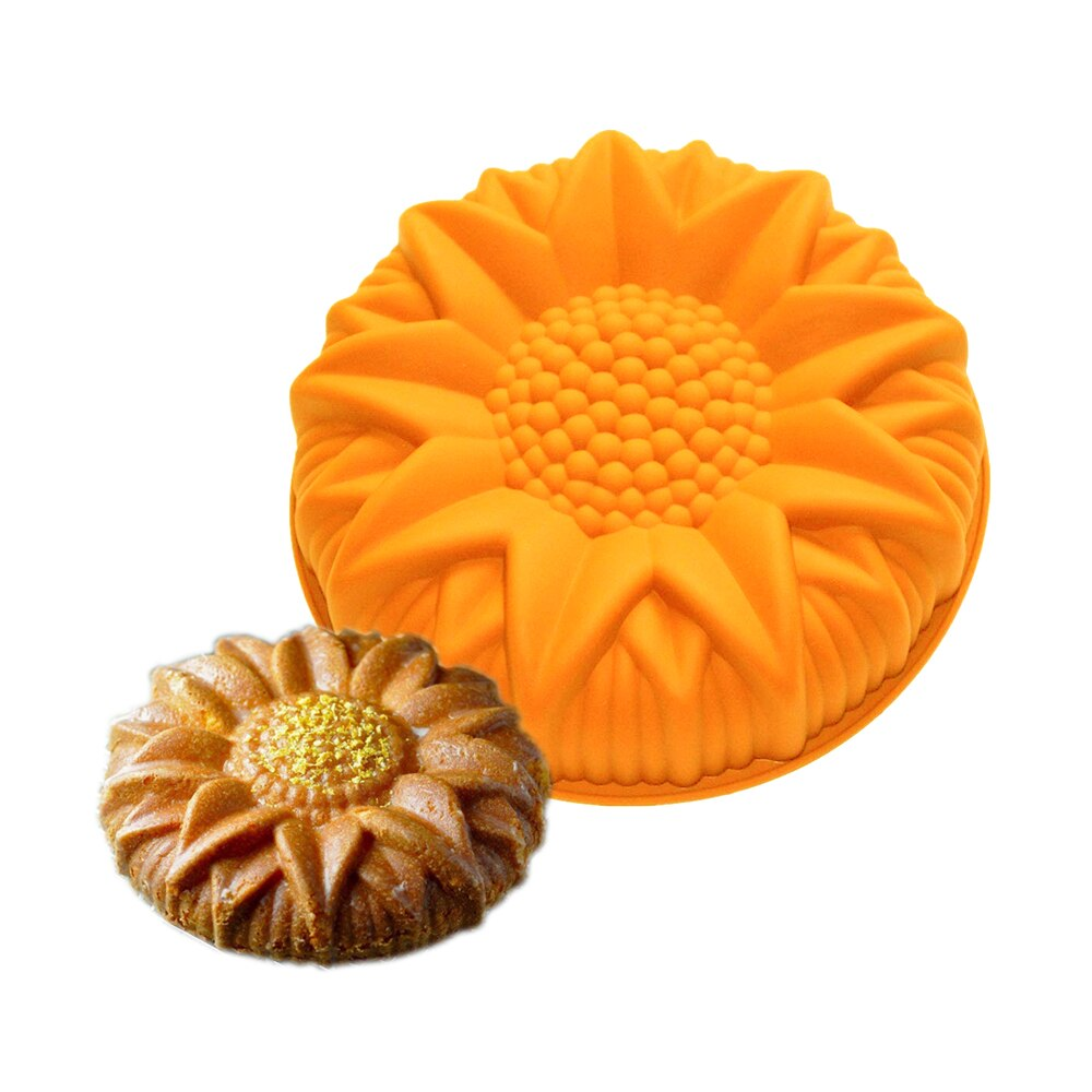 Kitchen Accessories Pudding Jelly Pastry Tools Cake Molds Bakeware Cake Molds Silicone Non Stick Sunflower Baking Pastry Tools Mousse Chiffon Cake Mold