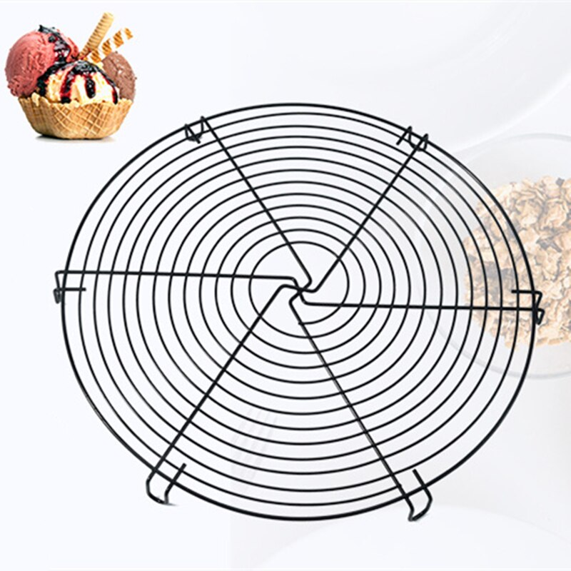 Tray Grill Non Stick Rack Cooling Rack Round Baking Round Baking Nonstick Cake Cooling Rack Large Carbon Steel Biscuits Bread Cool Down Shelf Grid Trays