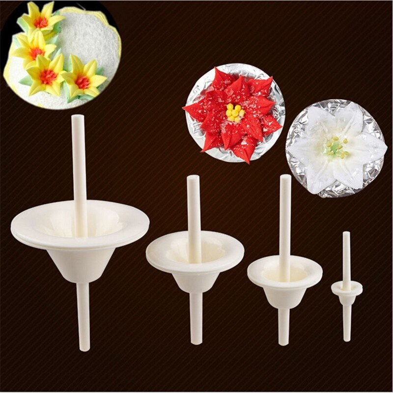 Pastry Tool Fondant Cake Kitchen Pastry Tools Stand Plastic Lily Flower Nail Receptacle Removable Matte Piping Stands Tools Kitchen Pastry Fondant Bakeware