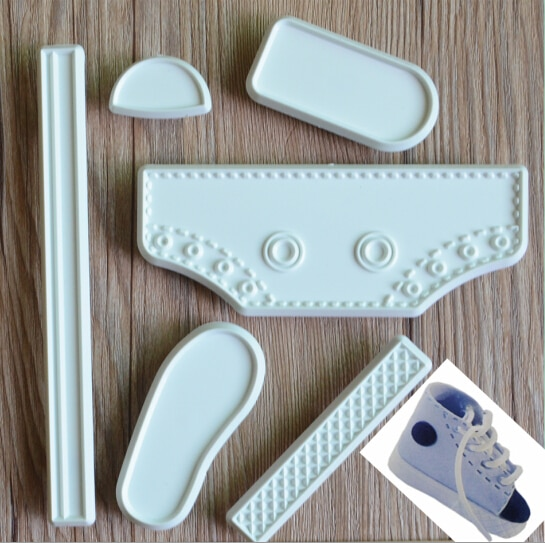 Baking Tool Cake Tools DIY Cake Tools Accessories Set Baby Shoes Cake Fondant Molds High Cut Sneaker Fondant Cake Decor Baking Tools Mould Cake Tools
