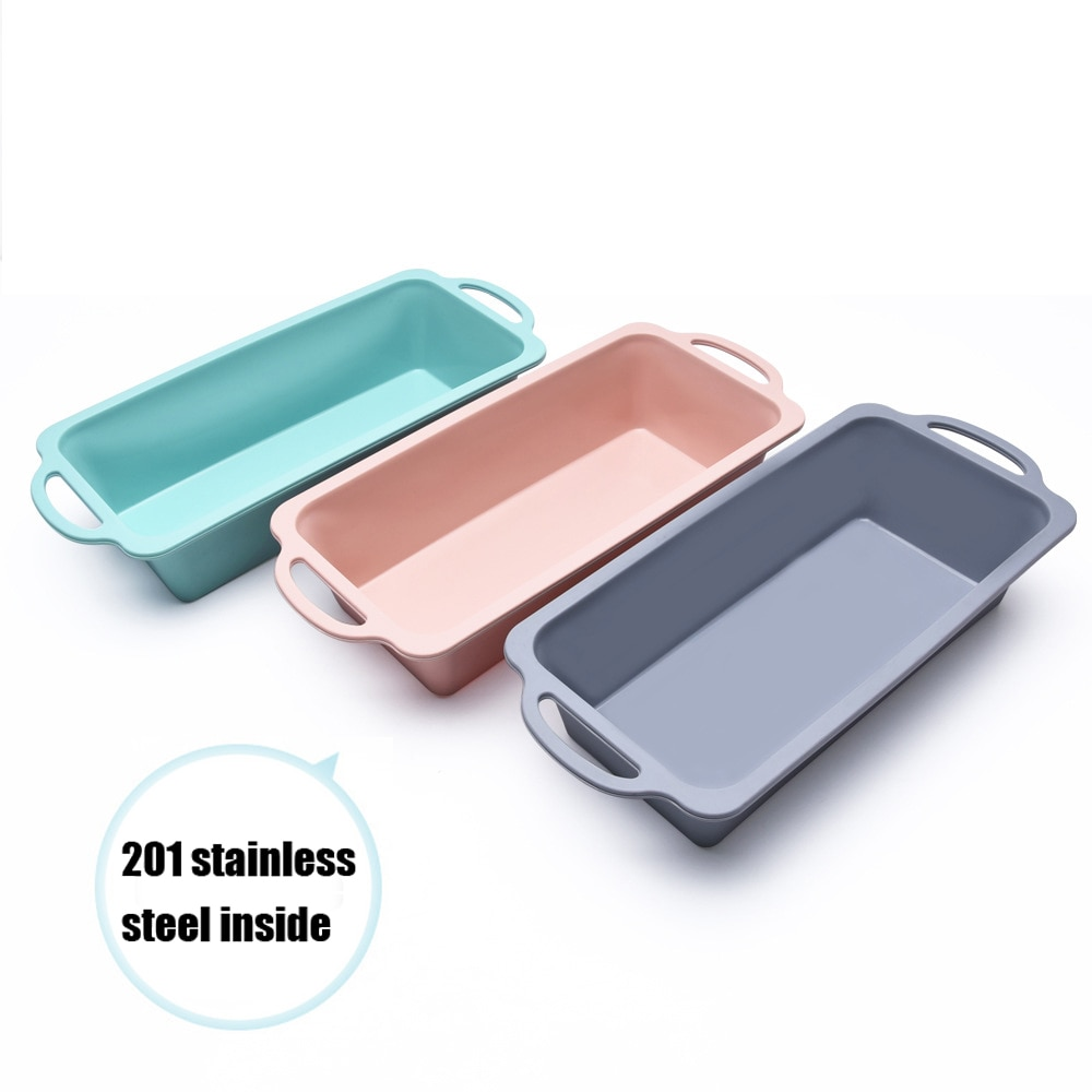 Baking Tray Baking Tools Bread Toast Silicone Cake Hot Sale Nonstick Silicone Baking Pans Heat Resistant Rectangle Cake Bread Pastry Baking Tray Tool Toast