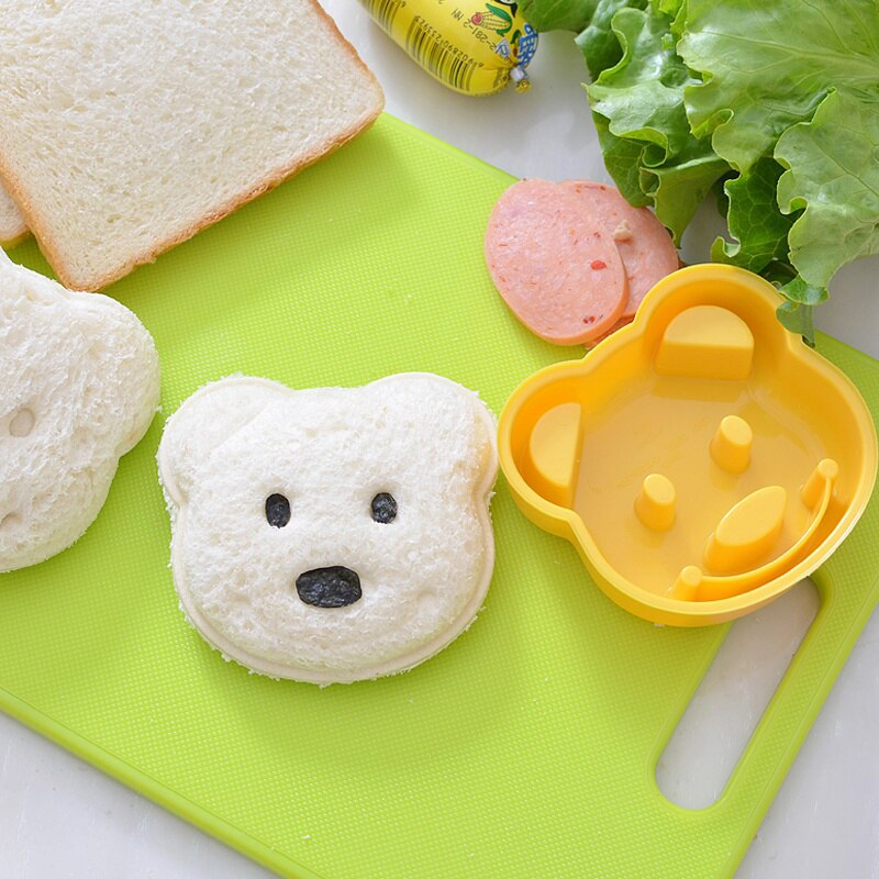 Breakfast Accessories Baking Tool Cake Mold Cookie Tool Sandwich Bear Mold Baking Tools Cookie Sandwich Biscuits Cutter Bread Making Cake Mould Tools