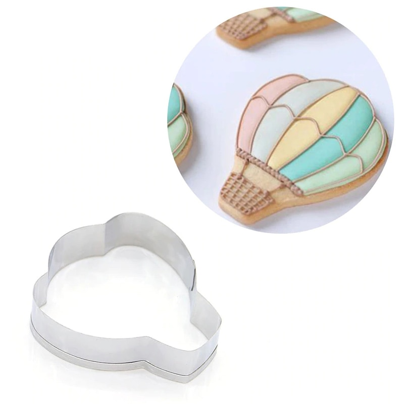 Cake Decorating Cake Chocolate Cookie Cutter Biscuit Mold Stainless Steel Cookie Cutter Hot Air balloon Shape Cake Chocolate Sushi Biscuit Mould Bakeware