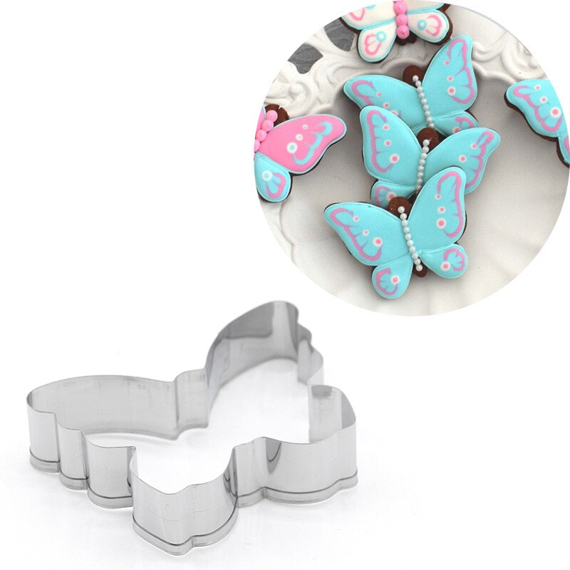 Cookie Cutter Biscuit Knife Baking Knife Baking Fruit Butterfly Cookie Cutter Stainless Steel Biscuit Knife Baking Fruit Kitchen Mold Embossing Printing Bakeware