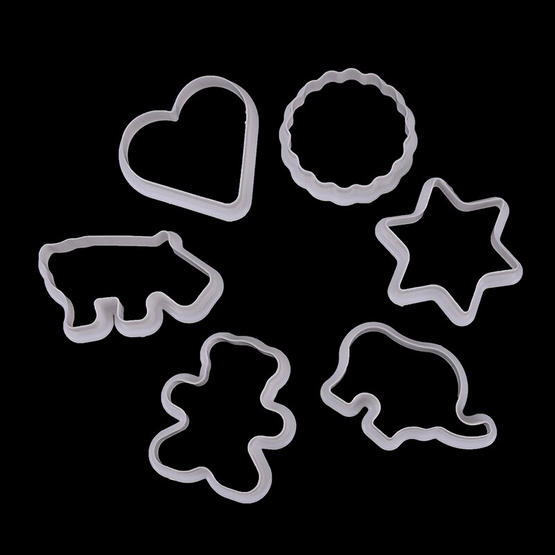 Fondant Cake Biscuit Cutter Kitchen Tool Cookie Pastry Six Pieces Kitchen Tool Biscuit Cutter Animal Shaped Plastic Cookie Pastry Fondant Molds Biscuit Mold