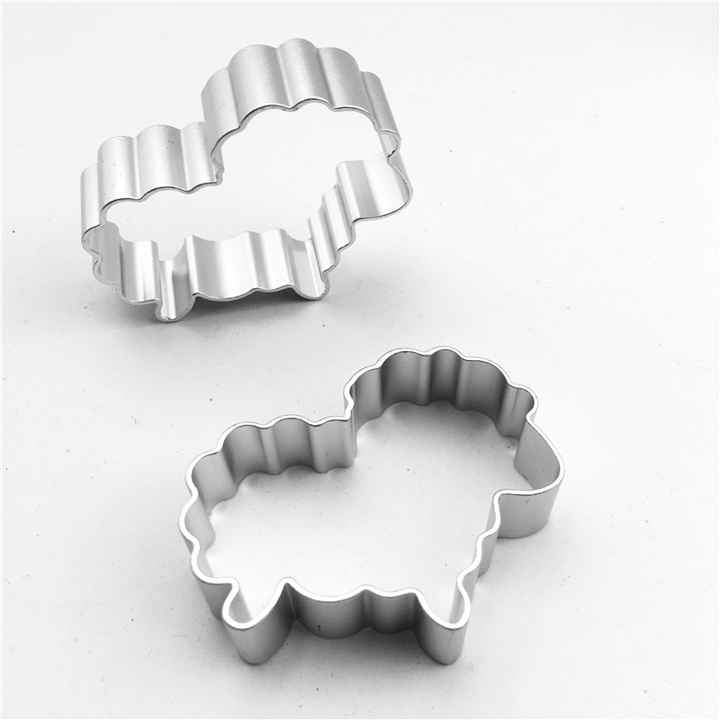 Pastry Tools Aluminum Alloy Biscuit Cutter Cookies Mold Sheep Aluminum Alloy Animal Shape Design Cookies Cutter Bakeware Cake Pastry Mold Cookie Cutter