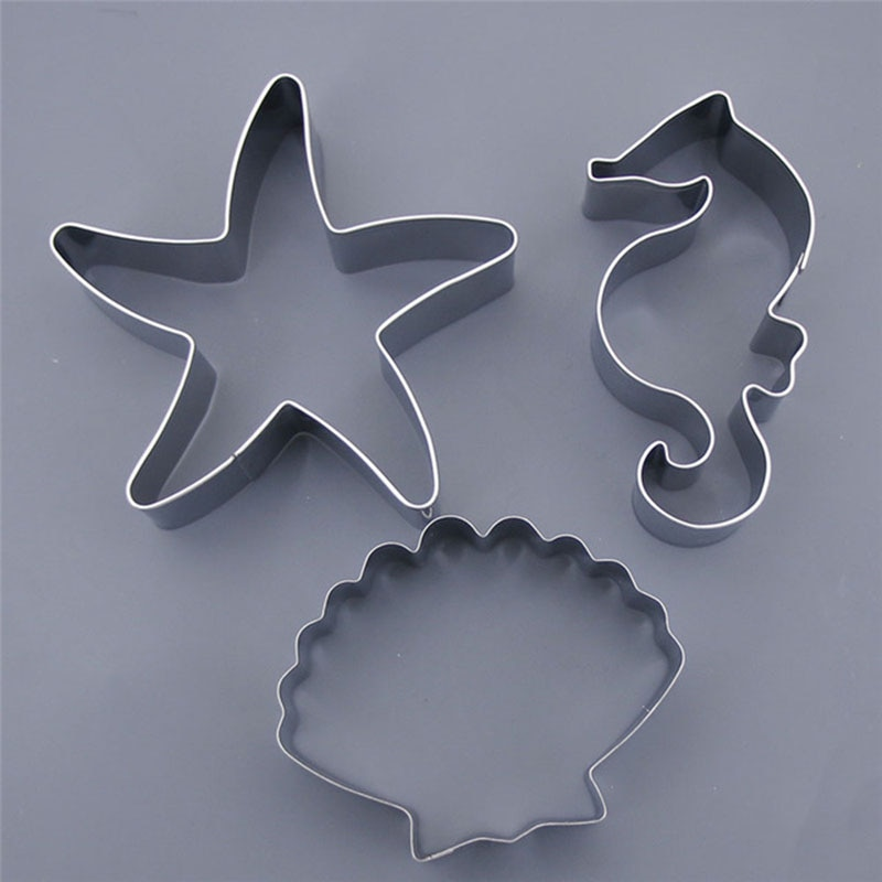 Cookie Tools Cookie Molds Horse Molds Cookie Cutter Cookie Tools Cookie Moulds Ocean Sea Star Shells Sea Horse Moulds Biscuit Cake Molds Stainless Steel