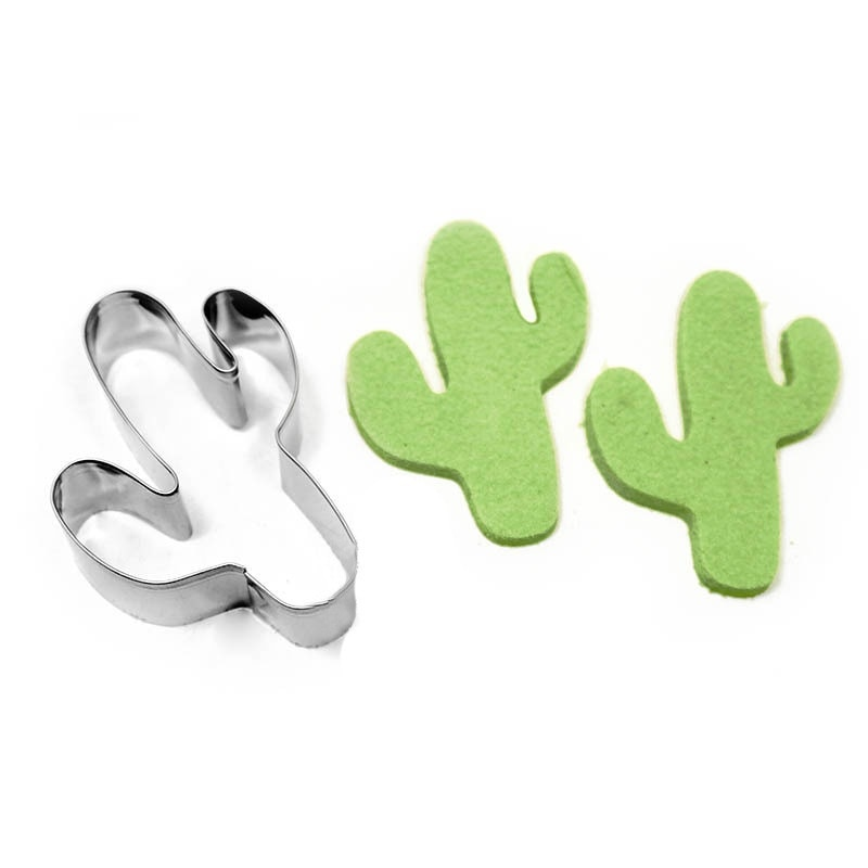 Baking Accessories Cookie Cutter Baking Mold DIY Tool Stainless Cactus Shape Cookie Biscuit Cake Baking Mold Mould Tool DIY Mold Kitchen Baking Gadgets