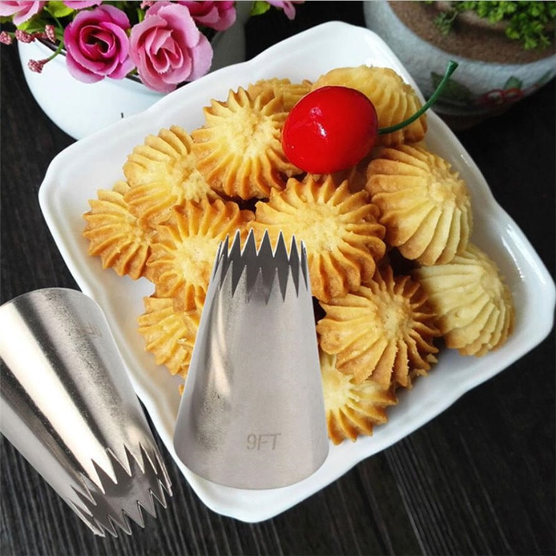 Pastry Tips Cookies Cake Pastry Nozzles Decorating Tools Large Icing Piping Nozzles Russian Nozzles Pastry Tips Cookies Cake Decorating Tools Tips Nozzles