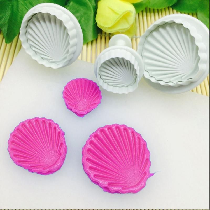 Decorating Tools Cake Cutter Fondant Cookie Kitchen Baking Fondant Cookie Cake Cutter Mold Embossed Sea Shell Kitchen Baking Cake Decor Bakeware Tools