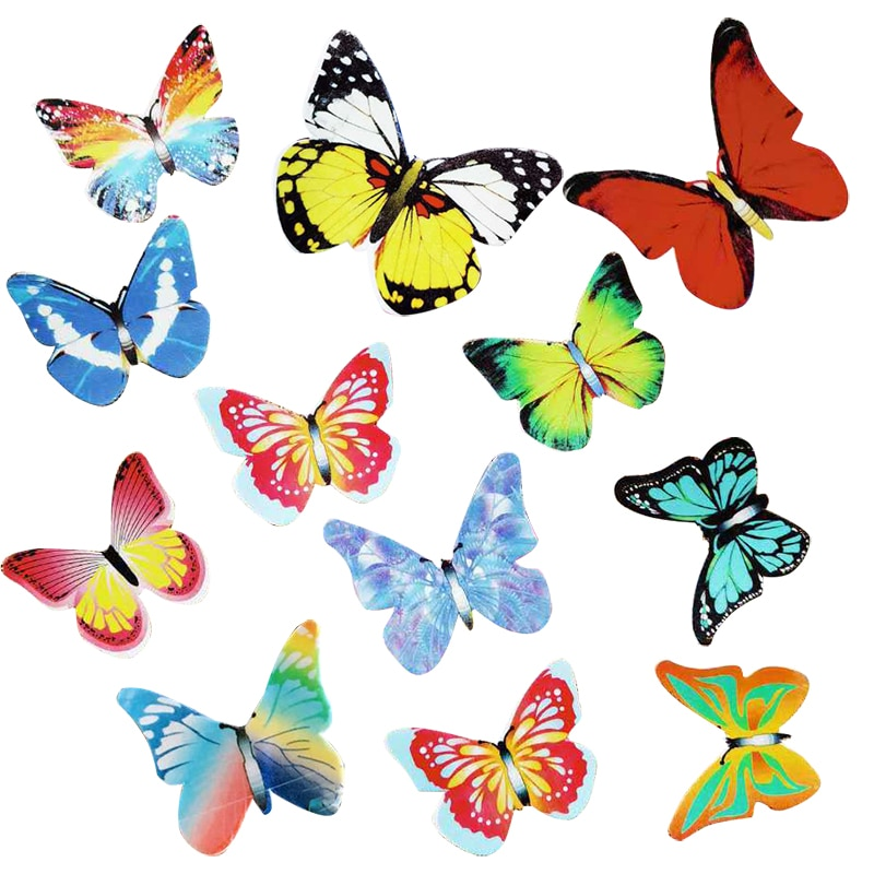 Cake Decorations Cake Dessert Wedding Cake Glutinous Rice Mixed Butterfly Edible Glutinous Wafer Rice Paper Cupcake Cake Dessert Cake Decoration Toppers