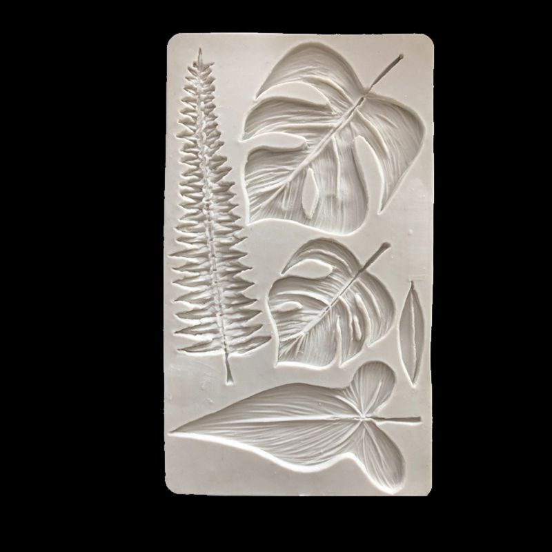 Candy Sugar Chocolate Mold Decorating Tool Cookies Chocolate Tropical Theme Cake Decorating Tool Palm Leaves Silicone Mold Clay Fondant Mold Bakeware
