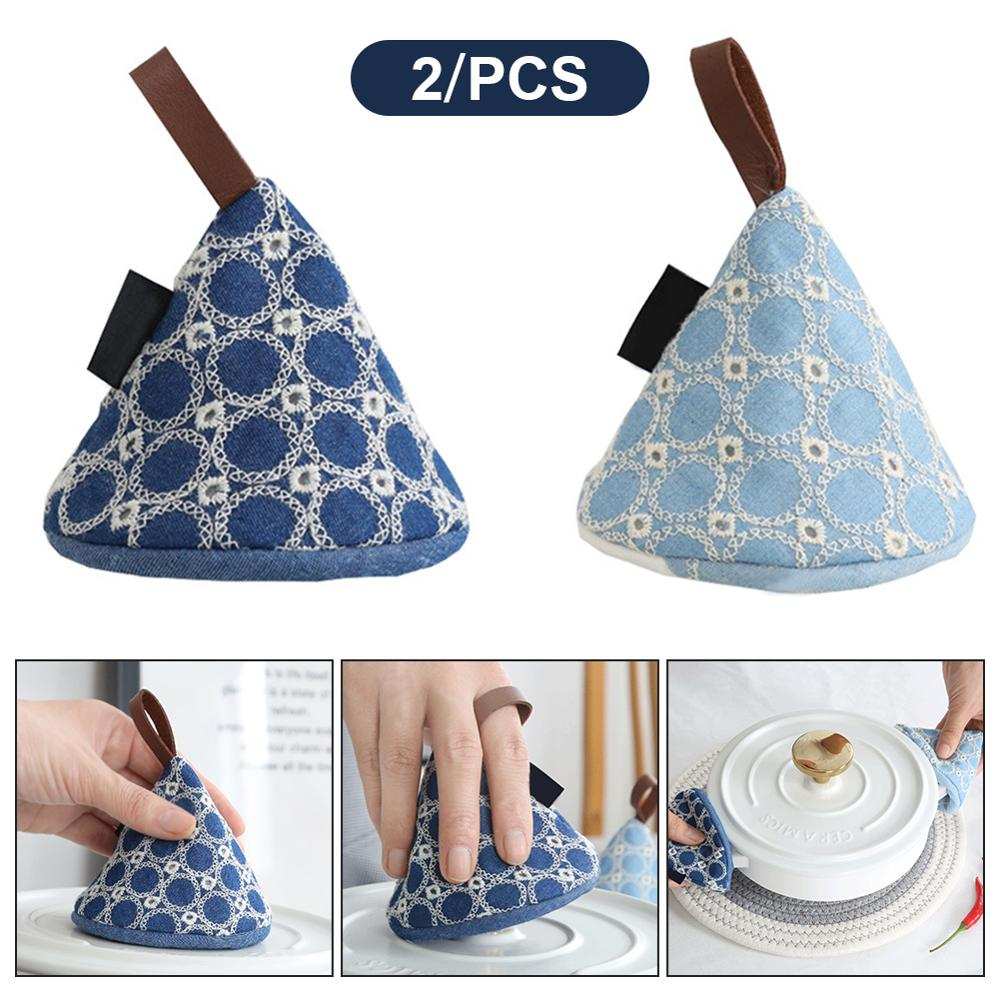 Silicone Pot Heat Hot Oven Gloves Insulated Gloves Insulated Heat Hot Plate Clip Microwave Oven Gloves Thicken Anti-scald Kitchen Organizer Silicone Pot Clips