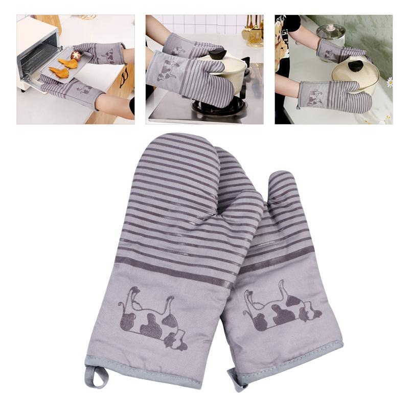 Cooking Tools Cooking Gloves Mitt Gloves Microwave Pot Silicone Oven Mitt Gloves Heat Resistant Microwave Pot Mitts Non Slip Baking Cooking Gloves Tools