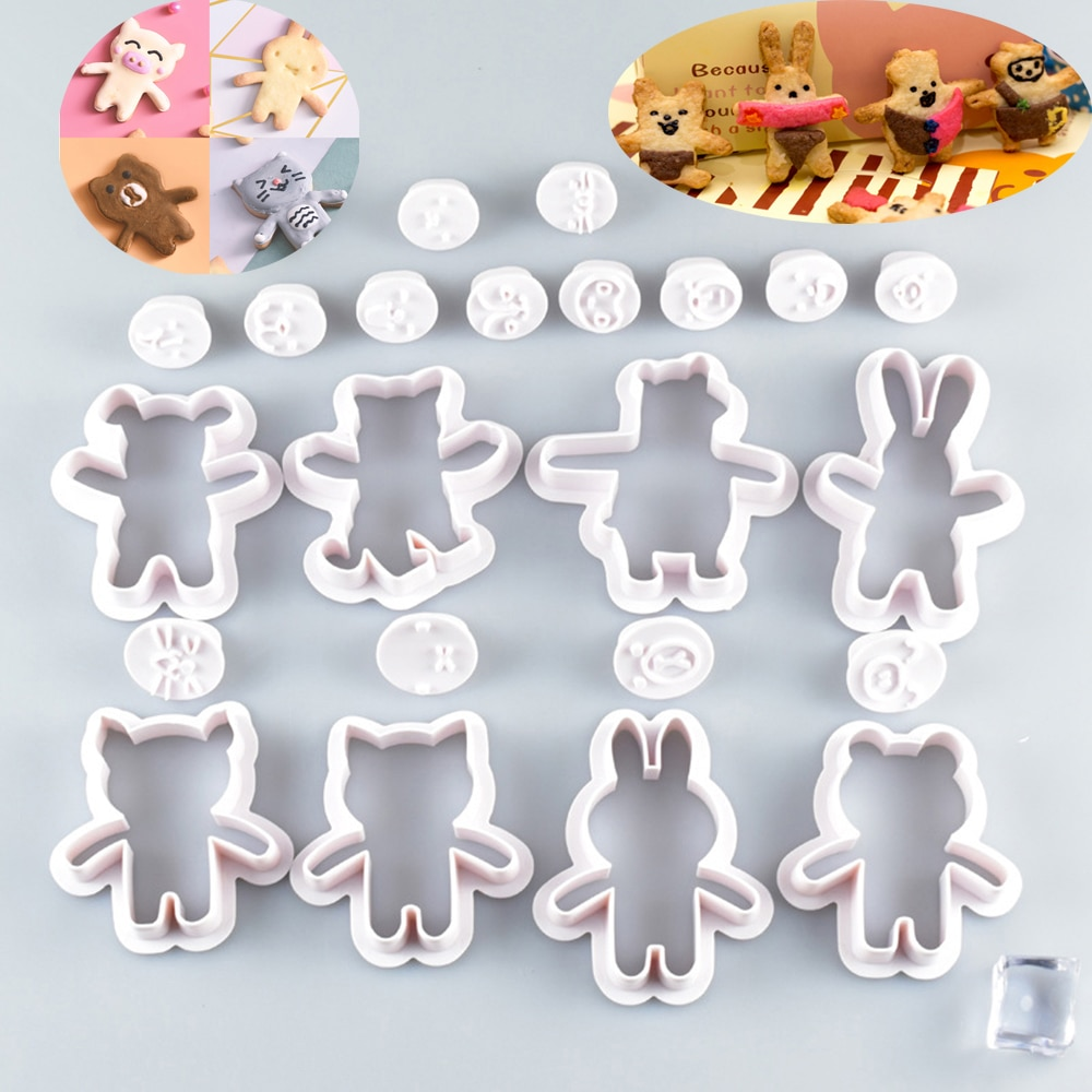 Cookie Cutters Mold Cake Bakingn Tools Rabbit Bear Rabbit Bear Face Expression Biscuits Cookie Cutter Mold Cake Decor Tools Bakeware Cutter Pastry Tools