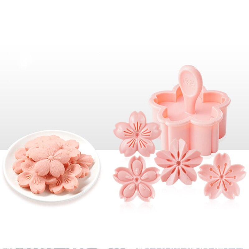 Baking Tool Cookie Mold Biscuit Mold Floral Mold Sakura Cookie Mold Stamp Biscuit Mold Cutter Pink Cherry Blossom Mold Flower Charm DIY Floral Mold Tool