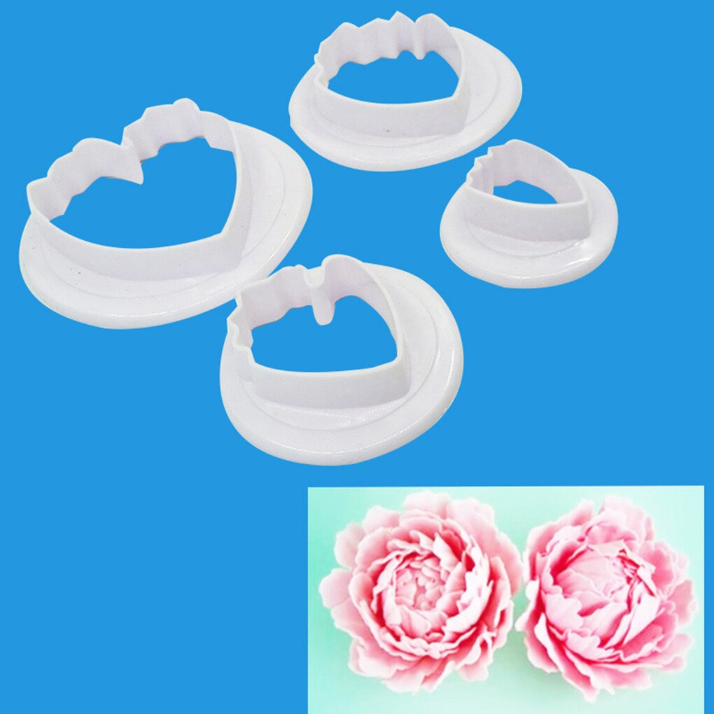 Cookie Cake Baking Cake Decorating Tools Moulds Baking Plastic Flower Mould Petals Pattern Cutting Mold Cookie Cake Cutters Moulds Baking Cake Decor Mold