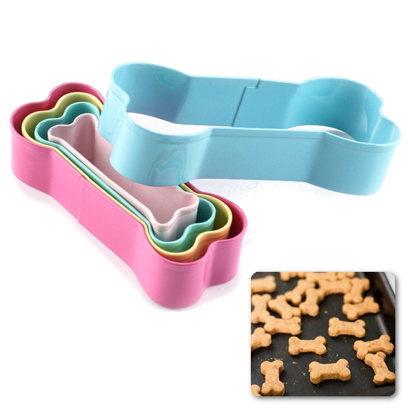 Decorating Tools Biscuit Cutter Cookie Cutter Kids Cake Stainless Steel Biscuit Cutter Mold Dog Bone Shape Cookie Cutter Set Kids Suitablel for Cake Cookies